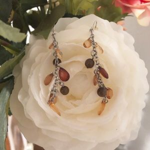 Jewelry - Brown and Silver Dangle Earrings